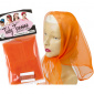 Tidy Tresses Hair Scarf with Coordinating Color Bobby Pins Orange