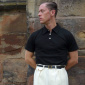 Simon James Cathcart Black Polo Shirt