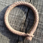 Lone Wolf Leather Braided Kangaroo Bracelet Nature