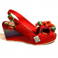 Miss L Fire Norma Red Wedge Sandal