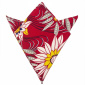 Trashy Diva Pocket Square Red Waterlilies