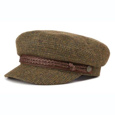 Brixton Fiddler cap Moss/Brown in the group Men / Headwear / Sailor hats at Sivletto - Skylark AB (00004-MSBRN)