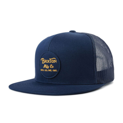 Brixton Wheeler Mesh Blue in the group Men / Headwear / Trucker/baseball caps at Sivletto - Skylark AB (00014-PATBL)