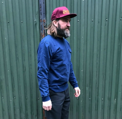 Dickies Fawn Grove Sweatshirt Light Indigo in the group Sale! / Men / Sweaters at Sivletto - Skylark AB (02-200183-LI)
