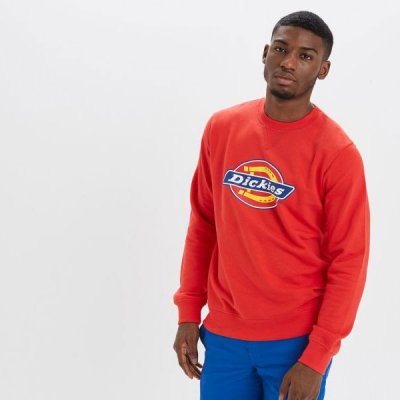 Dickies Harrison Crew Fiery red  in the group Sale! / Men / Sweaters at Sivletto - Skylark AB (02200072FR)
