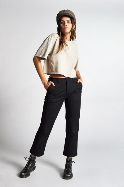 Brixton Victory Chino Pant Black in the group Sale! / Women / Pants at Sivletto - Skylark AB (04139)