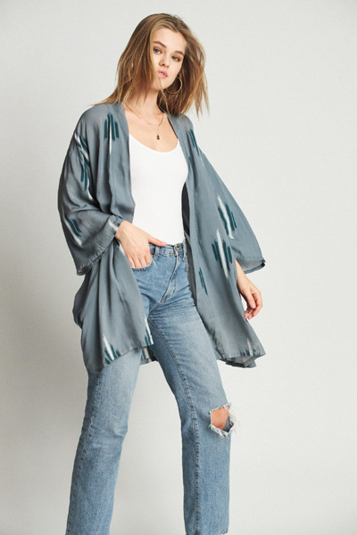 Brixton Evangeline Kimono Blue Stone in the group Women / Sweaters and cardigans at Sivletto - Skylark AB (05257-BLSTO)