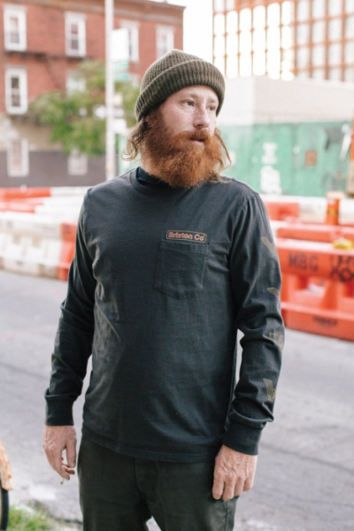 Brixton Maron L/S Pocket Tee Washed Black in the group Campaign / Big and Tall at Sivletto - Skylark AB (06620-Maron-WABLK)