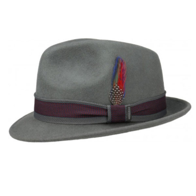 Stetson Player woolfelt grey hat in the group Men / Headwear / Hats at Sivletto - Skylark AB (1398103-33)