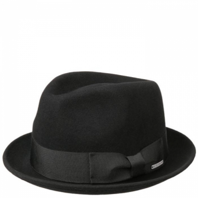 Stetson Player Woolfelt Cashmere Black in the group Men / Headwear / Hats at Sivletto - Skylark AB (1398110-1)