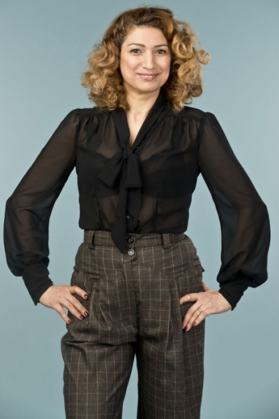 Emmy design the busy bow blouse black in the group Clearance / Women / Tops, jackets etc at Sivletto - Skylark AB (14104001)