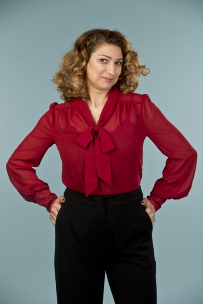 Emmy design The Busy Bow Blouse Wine in the group Clearance / Women / Tops, jackets etc at Sivletto - Skylark AB (14104002)