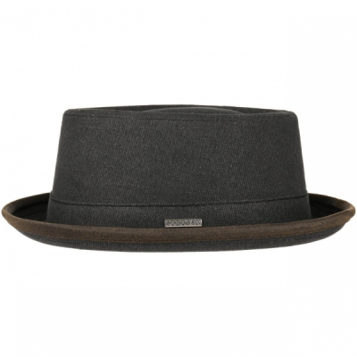 Stetson Pork Pie Canvas Antracite in the group Men / Headwear / Hats at Sivletto (16111-02-1)