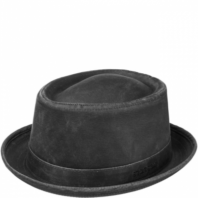 Stetson Odenton Pork Pie Hat Black in the group Men / Headwear / Hats at Sivletto - Skylark AB (1611101-1)