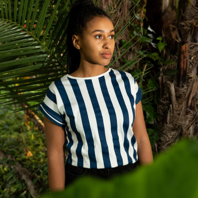 Dedicated Big stripes t-shirt in the group Women / Blouses, tops & t-shirts at Sivletto - Skylark AB (16703)