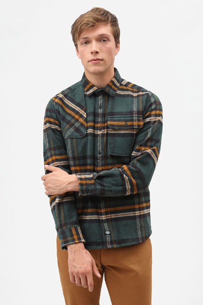 Dickies Prestonburg Shirt Forest in the group Sale! / Men / Shirts at Sivletto - Skylark AB (200352)