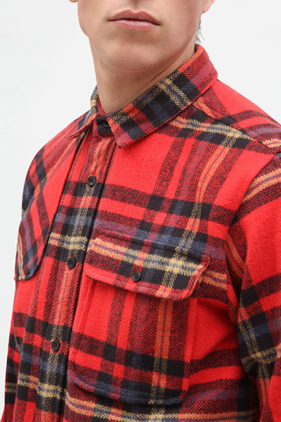 Dickies Prestonburg Shirt Red in the group Clearance / Men / Shirts at Sivletto - Skylark AB (200352RD)