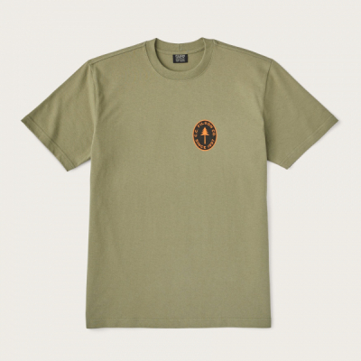 Filson Outfitter Graphic Tee Burnt Olive in the group Men / T-shirts at Sivletto - Skylark AB (20154334-bo)
