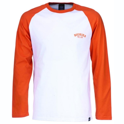 Dickies Baseball t-shirt energy orange in the group Men / T-shirts at Sivletto - Skylark AB (210275EOR)