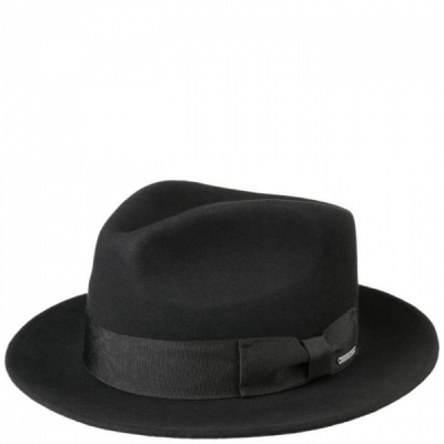 Stetson Fedora Woolfelt Cashmere Black in the group Men / Headwear / Hats at Sivletto - Skylark AB (2198111-1)