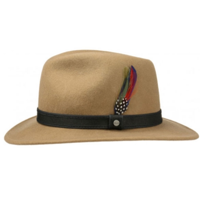 Stetson Traveller Woolfelt camel in the group Men / Headwear / Hats at Sivletto (25281-04-7)