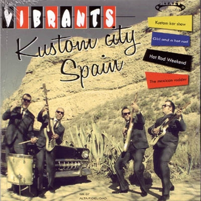 The Vibrants - Kustom City Spain EP in the group Misc / Music / Vinyl at Sivletto (4651)