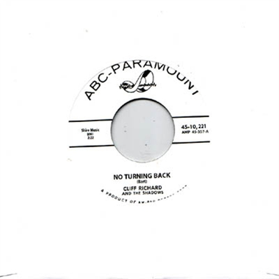 Cliff Richard - No Turning Back b/w Mean Woman Blues in the group Music & Film / Music / Vinyl at Sivletto - Skylark AB (5322)