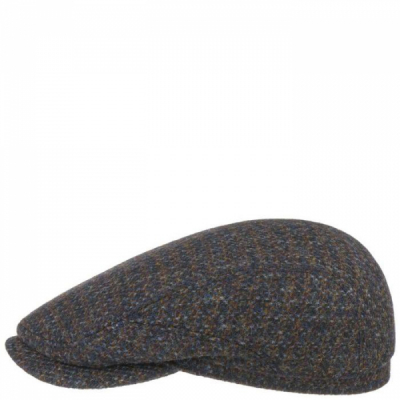 Stetson Driver Cap Harris Tweed Brown/Blue in the group  at Sivletto - Skylark AB (6380202-123)