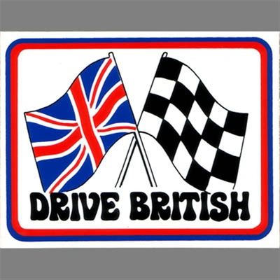 Drive British sticker in the group Home and stuff / Patches and decals at Sivletto (6678)