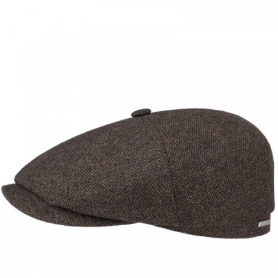 Stetson Hatteras Flat Cap Brown in the group Men / Headwear / Flat caps at Sivletto - Skylark AB (6840107-61)
