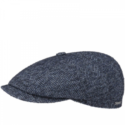 Stetson Hatteras Wool Cap Blue in the group Men / Headwear / Flat caps at Sivletto - Skylark AB (6840503-322)