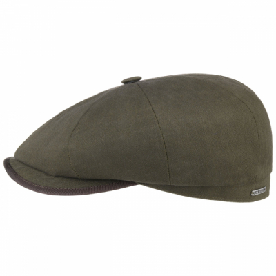 Stetson Hatteras Cotton Herringbone Olive in the group Men / Headwear / Flat caps at Sivletto - Skylark AB (6841506-355)