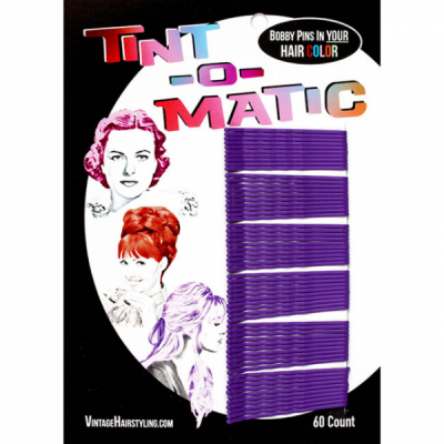Tint-o-Matic Bobby Pins Deep purple in the group Grooming / Ladies hairstyling / Clips, pins etc at Sivletto - Skylark AB (7851DP)