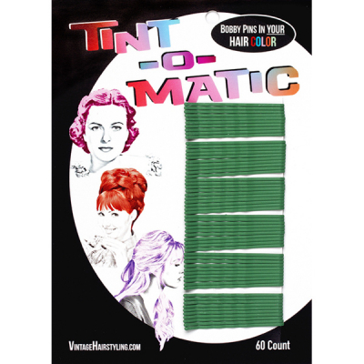 Tint-o-Matic Bobby Pins Poison green in the group Hair and skincare / Ladies hairstyling / Clips, pins etc at Sivletto - Skylark AB (7851PG)