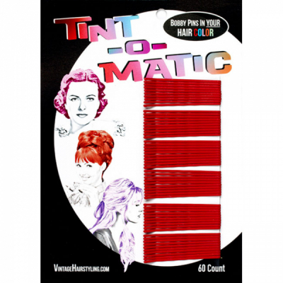 Tint-o-Matic Bobby Pins Red in the group Hair and skincare / Ladies hairstyling / Clips, pins etc at Sivletto - Skylark AB (7851R)