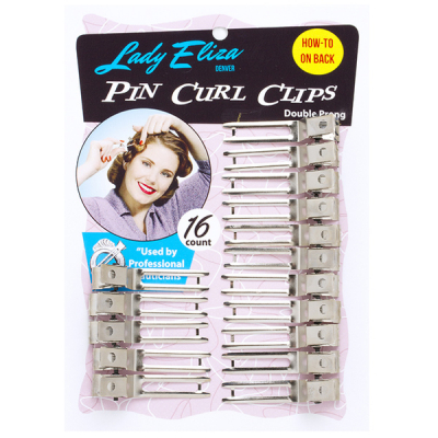 Lady Eliza Pin Curl Clips in the group Hair and skincare / Ladies hairstyling / Clips, pins etc at Sivletto - Skylark AB (8056LE)