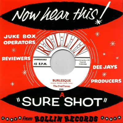 The FretTones - Burlesque b/w You Done Me Wrong in the group Misc / Music / Vinyl at Sivletto (8352)