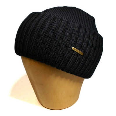 Stetson Northport Beanie Navy in the group Men / Headwear at Sivletto - Skylark AB (85193-01-2)