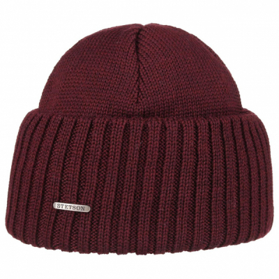 Stetson Northport Beanie Burgundy in the group Men / Headwear / Beanies at Sivletto - Skylark AB (85193-01-89)