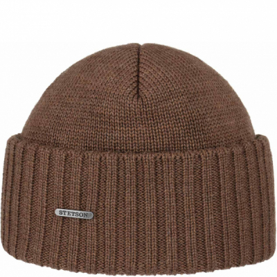 Stetson Northport Beanie Light Brown in the group Men / Headwear / Beanies at Sivletto - Skylark AB (8519301-67)