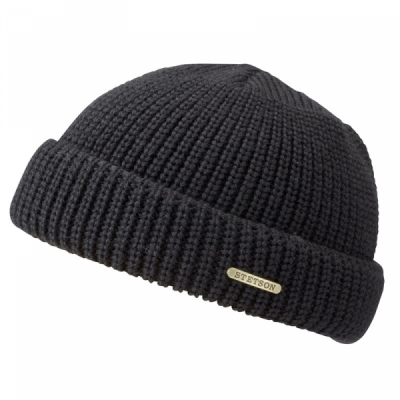 Stetson Nashville Wool Docker Hat Navy in the group Beanies at Sivletto - Skylark AB (85993-02-2)