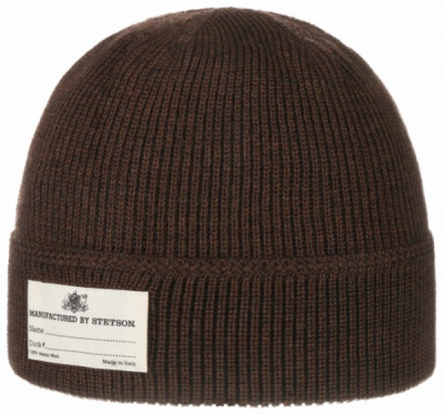 Stetson Onalaska Beanie Brown in the group Beanies at Sivletto - Skylark AB (8599319-61-AW20)