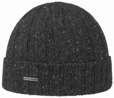 Stetson Beanie Wool Grey in the group Men / Headwear / Beanies at Sivletto - Skylark AB (8599335-3)