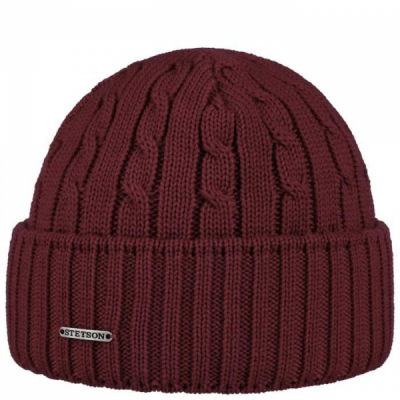 Stetson Georgia Beanie Maroon in the group Men / Headwear / Beanies at Sivletto - Skylark AB (8699352-89)