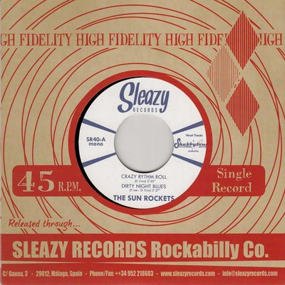 The Sun Rockets - Crazy Rhythm Roll + Dirty Night Blues / Desert Wind + Pick Up The Phone in the group Misc / Music / Vinyl at Sivletto (8916)