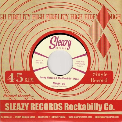 Lucky Marcell & The Ramblin' Three - Movin' On / Heartbreakin' Mama + No Second Chance  in the group Misc / Music / Vinyl at Sivletto (8917)