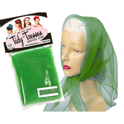 Tidy Tresses Hair Scarf with Coordinating Color Bobby Pins Green in the group Hair and skincare / Ladies hairstyling / Hair nets and scarves at Sivletto - Skylark AB (8957GRN)