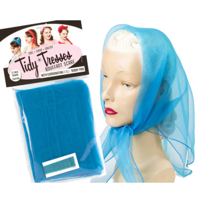 Tidy Tresses Hair Scarf with Coordinating Color Bobby Pins Electric blue in the group Hair and skincare / Ladies hair tools at Sivletto - Skylark AB (8957elb)