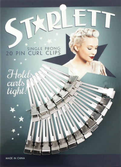 Starlett Single Prong Pin Curl Clips in the group Hair and skincare / Ladies hairstyling / Clips, pins etc at Sivletto - Skylark AB (9350)