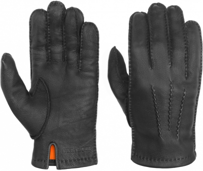 Stetson Lined Gloves Deer Nappa Black in the group Men / Accessories at Sivletto - Skylark AB (94979-03-1)